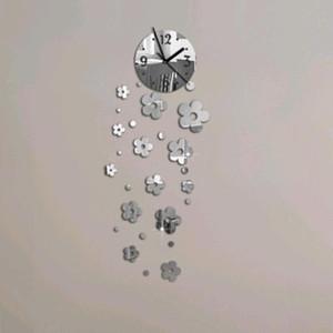 New 3d Diy Acrylic Mirror Clock Wall Clocks Horloge Reloj De Pared Large Decorative Watch Quartz Living Room Modern Needle