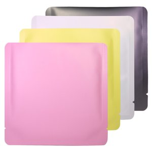 15x15 cm Differet Color Bianco / Giallo / Rosa / Nero Sigillabile Sigillabile Sigillabile Pianta piatta Bustina piatta Apri Top Pacchetto Borsa Vacuum Pouch HWC4135