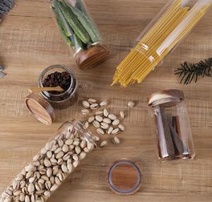 Caixa de armazenamento de alimentos de vidro, tanque de grão seco recipiente de plástico transparente com tampas de cozinha, st bbyqdc xmh_home