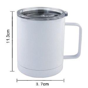 10 أوقية التسامي فارغة القهوة القدح سيارة كأس سيارة مزدوجة الجدار التسامي insted فراغ شرب الماء بهلوان المياه مع مقبض EEF4284