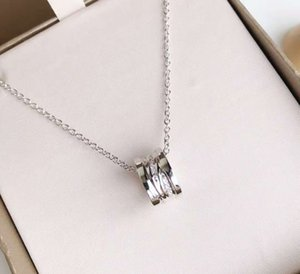 Luxury stainless steel necklace female light luxury new creative spring pendant, hollow pendant with sparkling luxury diamonds on both sides