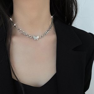 Titanium Steel Butterfly Necklace Womens Ins Light Extravagance Design Clavicle Chain Choker Chockercollar Titanium Steel sqcIqs hat7890