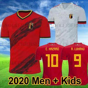 Belgium  19 20 Bélgica Maillot de foot PELIGRO LUKAKU KOMPANY Camisetas de fútbol MERTENS DE BRUYNE 2019 2020 Rojo Blanco Camiseta de fútbol Camisa de futebol