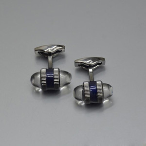 2021 Luxury Jewelry Men's Cuff Links Classic Logo Shirt Designer Cufflinks Wholesale Price With Box LM-15