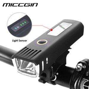 Micicgin Bike Sensor Battery Pantalla LED Bicicleta Linterna Linterna para bicicletas Ciclismo Flash Linterna Impermeable Lámpara USB Accesorios 201109