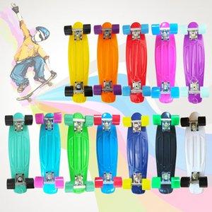 Skateboard 56CM Plastic Skate Board Kids Leaner Sport Cruiser Skate Board