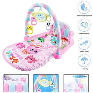Early Education Series Baby Gym Play Mat Lay&Play 3 in1 Fitness + Music+Lights Infant Harps toys Frame Pedal Fun Piano Boy Girl Q1121