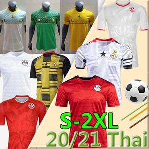 Egipto M.Salah # 10 South Ghana Túnez African Soccer Jersey 2020 2021 New National Team Home Away Ther Men Kit Camisas de fútbol Thai Calidad