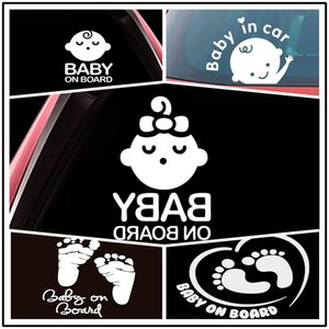 Multiple Options Baby on Board Baby in the Car Baby Warning Label Engraving Foreign Car Window Stickers