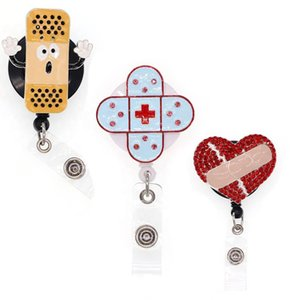 20 pcs  lot ID Retractable Badge Holder Defends Disease Band-Aid Badge reel for Accessories