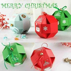 Christmas Candy Packaging Box Xmas Party Children Gift Box Navidad Home Baking Dessert Santa Package Natal Folding Carton