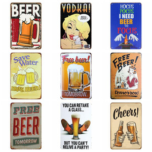 Metal Tin Retro Wall Plaque Sign Paints Painting Home Restaurant Decoration Art Sticker Iron Pub Wall Decor Support Customized AHA2667