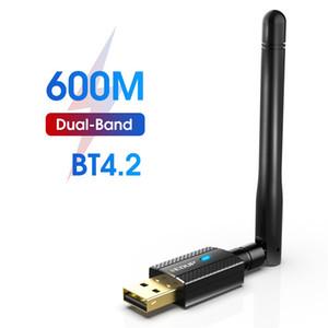 EDUP 600M USB WIFI Bluetooth 4.2 Adapter Dual Band 2.4Ghz 5Ghz Wireless Wi-Fi Network Card Receiver AC1661