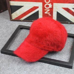 New autumn and winter rabbit fur warm baseball cap pure fur duck tongue hat fashion Plush casual fashion hat children T3I51522