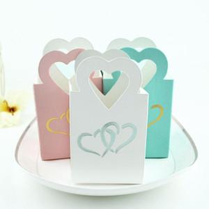 Mini European Candy Bag peach heart hand bag hot silver love box hollowed out dim sum candy box cake