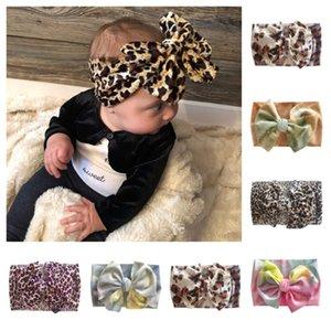 Bambini Bambini Fascia Tie-Dye Leopard Big Bow Capelli Involucri Hairband Ins Infant Hair Bands Elastico Ampia Fascia Bambina Bambina Bambini Bambini Headwear E120410