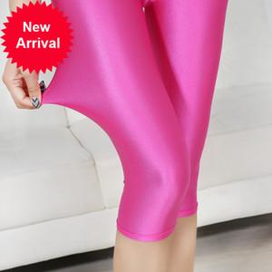 Cuhakci mujeres sexy leggings verano capris neón alto cintura jeggings gran tamaño más spandex fitness fitness pantalones cortos delgados