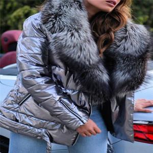 Grande Collar de Pele Casacos Designer Mulheres Manga Longa Lapela Pescoço Grosso Winter Jackets Plus Size Slim Mulheres Outerwear Roupas