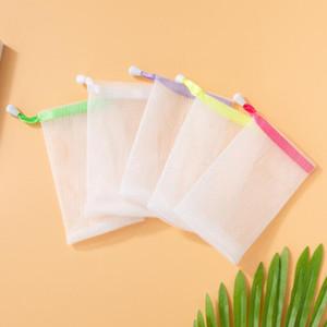 Мыльные пены сетки мешок мыльные сумки для хранения ванной для чистки перчатки для ванной комнаты Москитная сетка мыла Ручная ванна для ванной аксессуары 550 шт. TII3524