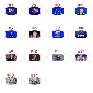14 style joe biden face mask America President Election Supplies Mask Washable Breathable Dustproof Printing Adult Kid Mask GGA3806
