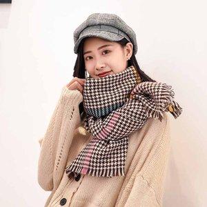 Scarves For Women Bandanas Elegant 1pc Scarf Female Houndstooth Scarf Wrap Fashion Warm Shawls Headband Soft Shawl Long