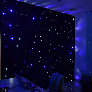 Brand New 3X6 M LED Star Curtain Fireproof Cloth Set For Nightclub Stage Wedding Backdrops Centerpieces Supplies