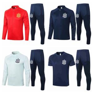 Surketement Tracksuits 2020 2021 Spain Soccer Sets Trossuit Тренировка футбола Polo Куртка
