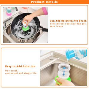 Гидравлическая стиральная кисточка Pan Boot с моющимся жидким мылом Dispenser кухонная ванная комната раковина утварь чистящие кисти инструмент Q Jllano