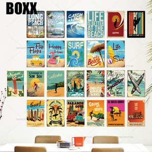 2020 Summer Beach Sea Tin Sign Plaque Metal Sign Metal Plate Wall Decor for Beach Bar Beach House Surf Club Decorative Iron Decoration Pub