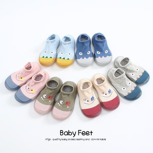 Baby Socks With Rubber Soles Cartoon baby shoes Infant Sock 201119