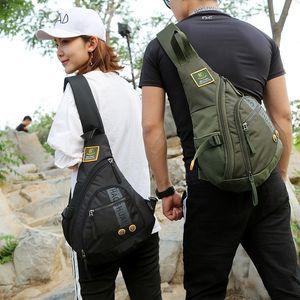 Mochila de nylon de alta calidad Mochila de Daypack impermeable bolso de hombro a prueba de hombros a prueba de mochilas de viaje de viaje mochila de pecho multifunción