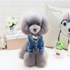 Puppy Clothes Cowboy Jacket Dog Apparel Poodle Teddy Dress Cartoon Autumn Winter Cloth Pet Supplies Bardian Fashion 22jz ff