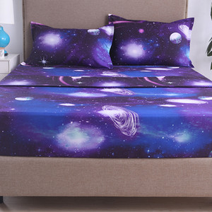 Simple 3d Star Nebula 1.8 2.2 m bed sheet four-piece set 266*259 Europe and the United States king large size dream Comfort sof