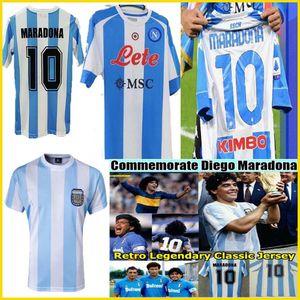 NCAA Maradona retro napoli Fourth soccer jerseys 2021 1981 1997 86 87 88 89 1986 1978 94 1998 20 21 Argentina boca Juniors football shirt ki