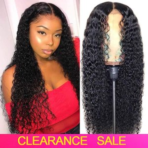 Curly Lace Front Human Hair Wigs For Black Women Pre plucked Brazilian Curly Human Hair Wig 150% Remy 4x4 Curly Lace