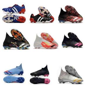 Caja doble Zapatos de fútbol originales Predator Accelerator Electricidad 18 + x Pogba FG Accelerator DB Precision Mania FG Pendientes de fútbol