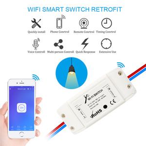 Smartphone Ewelink App Wi-Fi 4G Red Control de voz Interruptor del interruptor de interruptor de la función Interruptor de interruptor de la función para Alexa Google Home