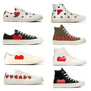 Новые 1970-е годы Большие глаза играют Chuck 70 Multi Heart 70s Hi Hi Canvas Skate Shoes Classic 1970 Bulvas Обувь совместно название Скейтборд Повседневные кроссовки