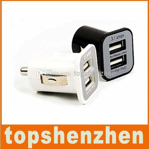 3.1A Cargador de automóviles Dual USB Puerto USB 2 PORT 3100MAH USB Cargador de coche para iPhone 5 5S 5 7 para Samsung S6 S7 Edge MP3 GPS altavoz