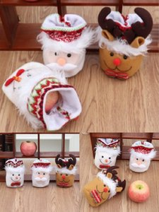 2020 christmas gifts Christma apple bag, 3 Style Ping An fruit packing bag with Santa Claus and snowman for children