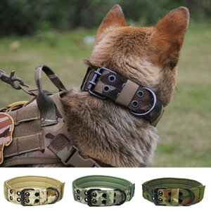 Camouflage Pet Collar Tactical Military Training Dogs Collar Necklace Choker Nylon Adjustable Large Dog Collar Accessories M-XL Z1127
