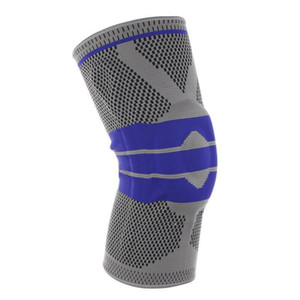 Sports Kneecaps Professional Silicone Anti-Collision Spring Support Basketball Knee Pad Biking Mountain Climbing Running Fitness Outdoor Pro