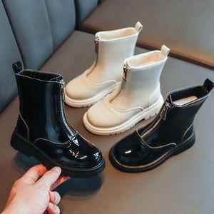Fashion Children's Martin Boots Autumn Winter Boys Girls Warm Leather Students Ins Short Boots