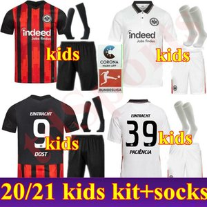 NCAA New 20 21 Youth HINTEREGGER Eintracht Frankfurt Kids kit Soccer Jersey Set SIA DOST KOSTIC SOW KAMADA PACIENCIA CHANDLER Football Shi
