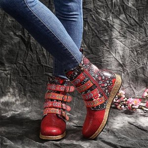 Large size high heel riding boots women 2020 new embroidered women's boots flat bottom fashion knight women's shoes
