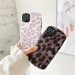 Purple Leopard Cheetah Pattern Fashion Lambskin PU Material Mobile Phone Case Cover for iphone 12 mini 11 Pro Max 7 8 Plus X XR XS Max