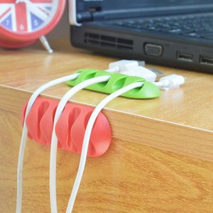 New Cable Drop Clip Desk Tidy Organiser Wire Cord Lead USB Charger Holder Fixer Wholesale PPD3435