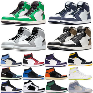 1 1 1 High Dark Mocha Luz Smoke Gris Chicago Toe Basketball Zapatos de Baloncesto Hombres Mujeres Jumpman Pine Green Black Twist Obsidian UNC Trainer Sneakers