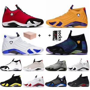 Nike Air Jordan 14 Jordan Retro 14 14s Com Box Top Quality Jumpman Mens Basketball sapatos de Universidade Red Ouro Hiper reais Mens Trainers