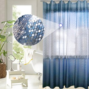 UFRIDAY Luxury PEVA Shower Curtain Bling 3D Circles Gradient Blue Shower Curtain for Bathroom 180*180cm Waterproof Bath Curtains Q1127 Q1128